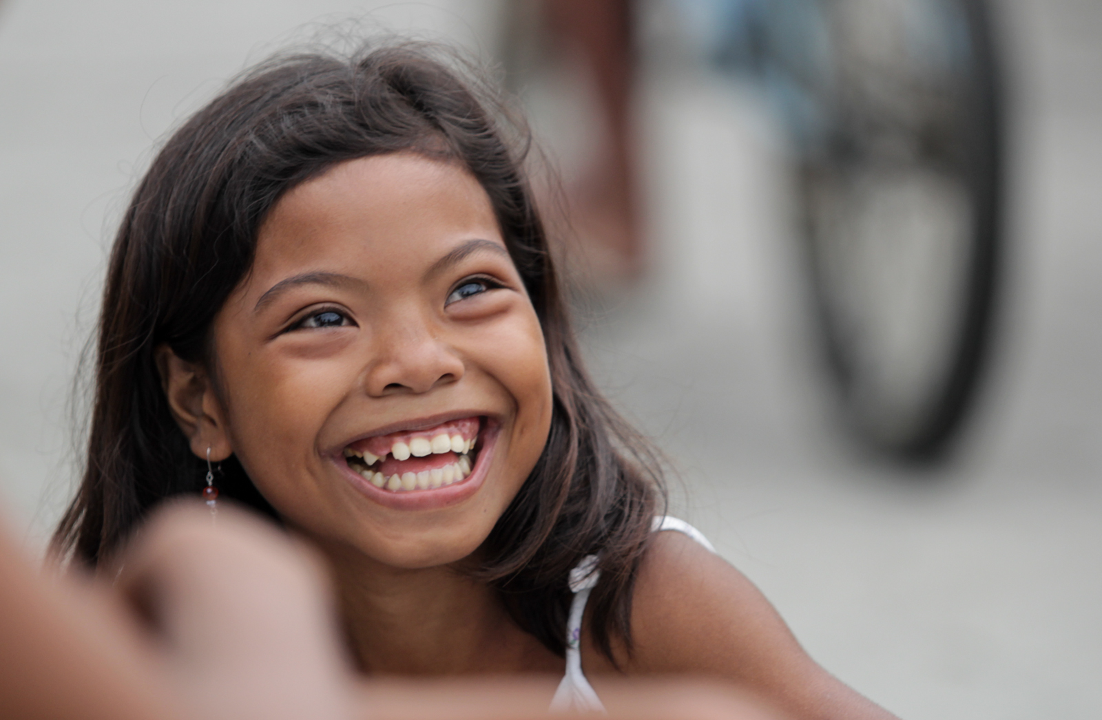 Filipino girl smiling