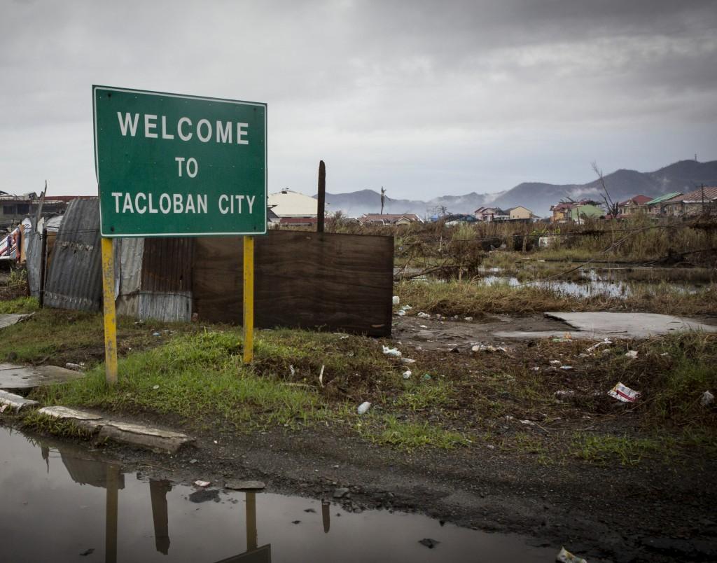 Entering Tacloban City
