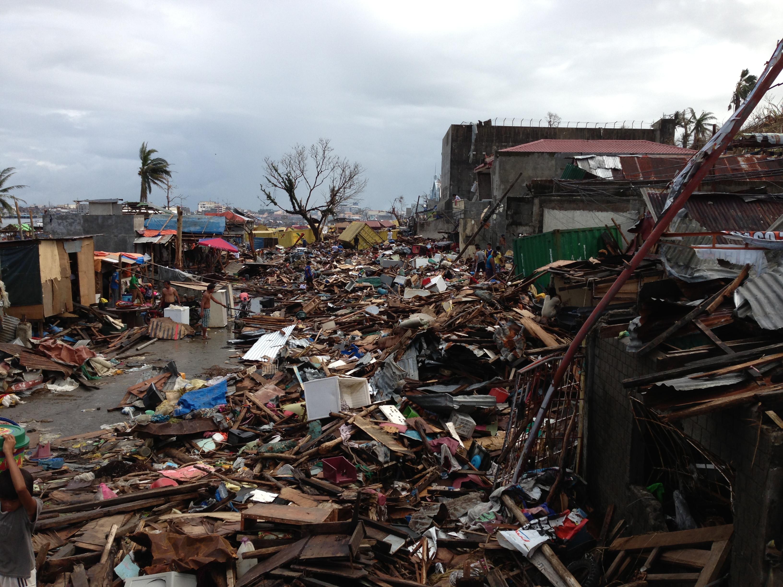 More debris ridden streets