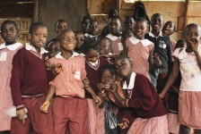 Ugandan school children