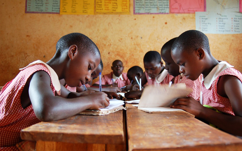 Students at St. James in Uganda