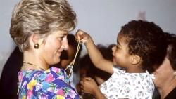 Princess Diana with a child