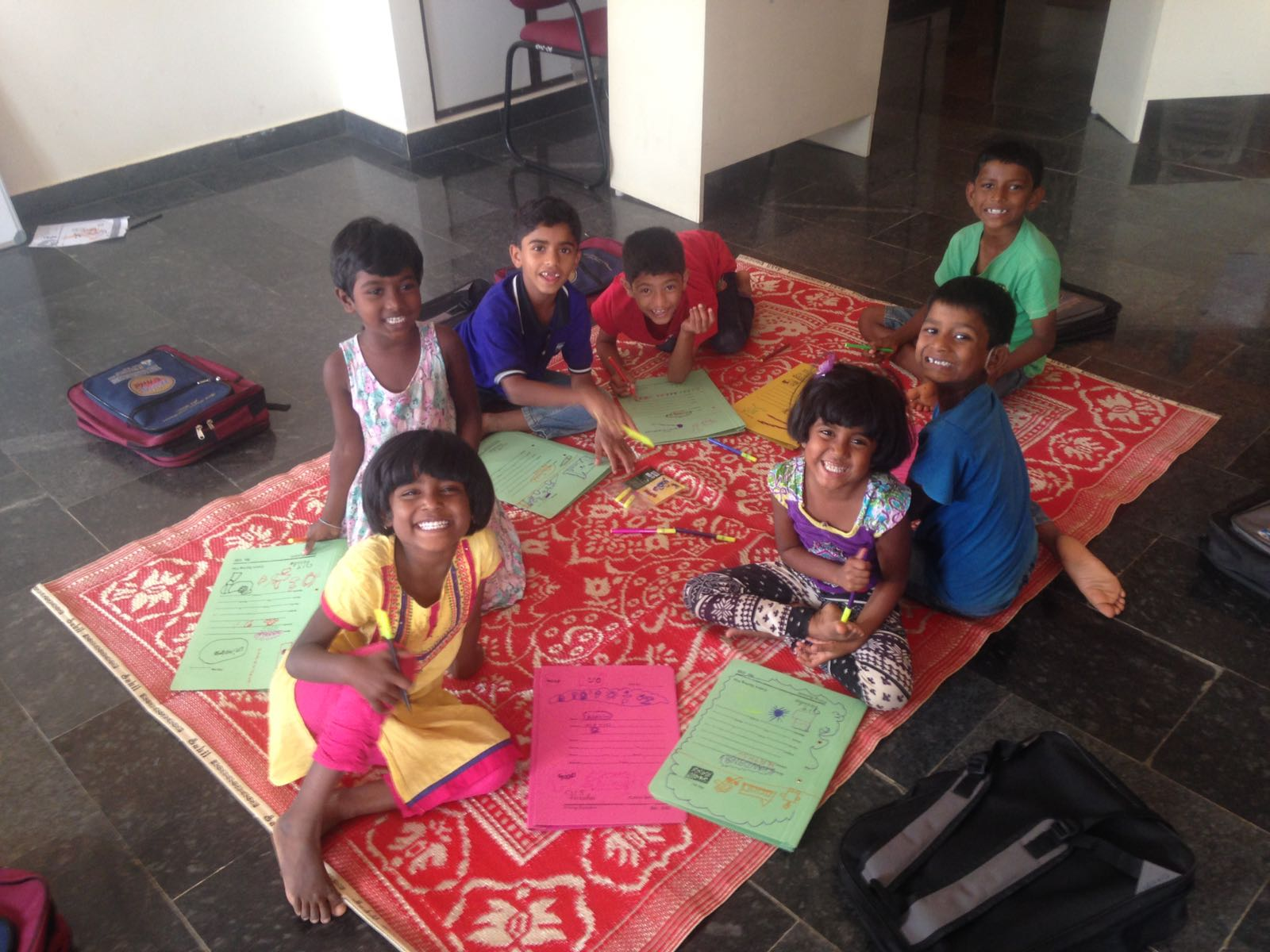 Kids at School@Home in India