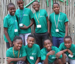 Daktari Bush School students