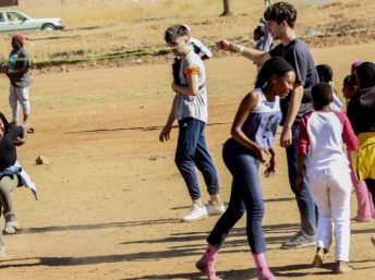 South African Children playing outside