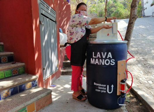 hand washing station in mexico